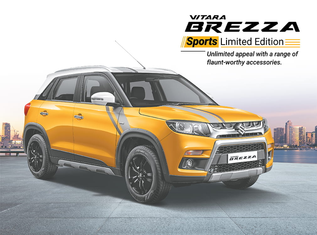 Exclusive Sports Limited Edition Vitara Brezza, for on- and off